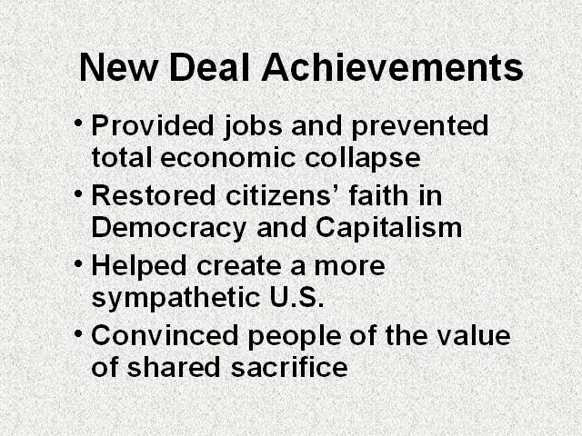 failures of the new deal